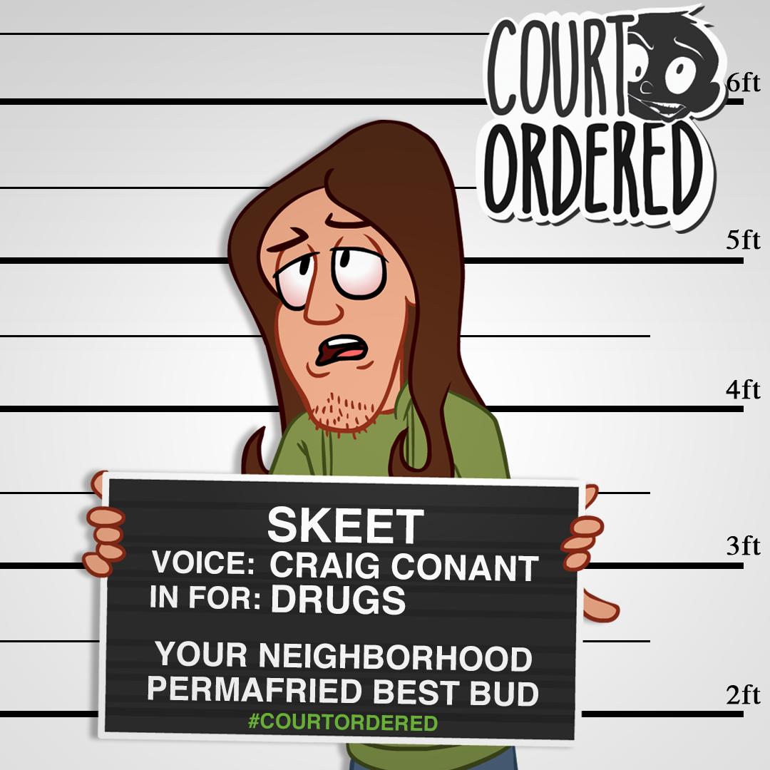 """""""Court Ordered"""" - Skeet Mugshot"""