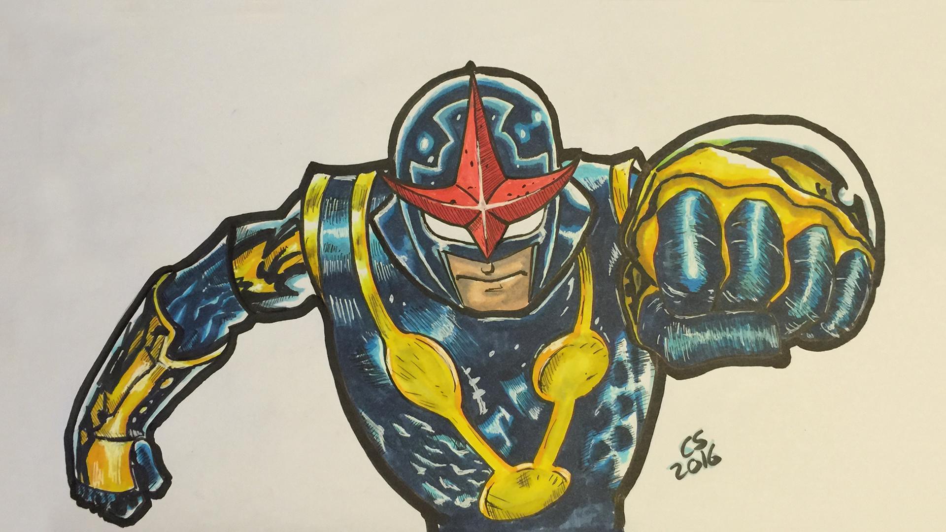 Nova from Marvel