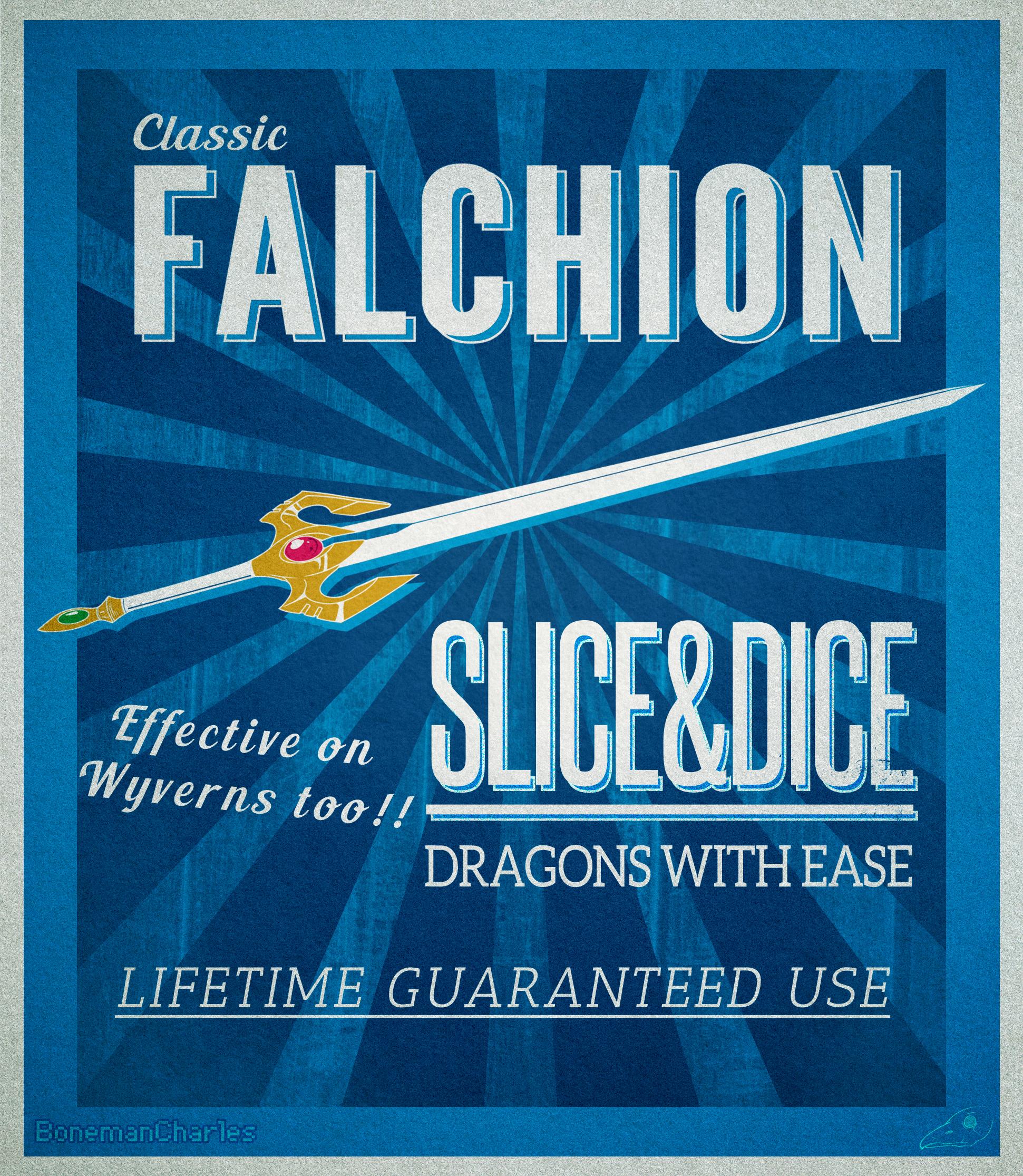 Fire Emblem Vintage Falchion poster