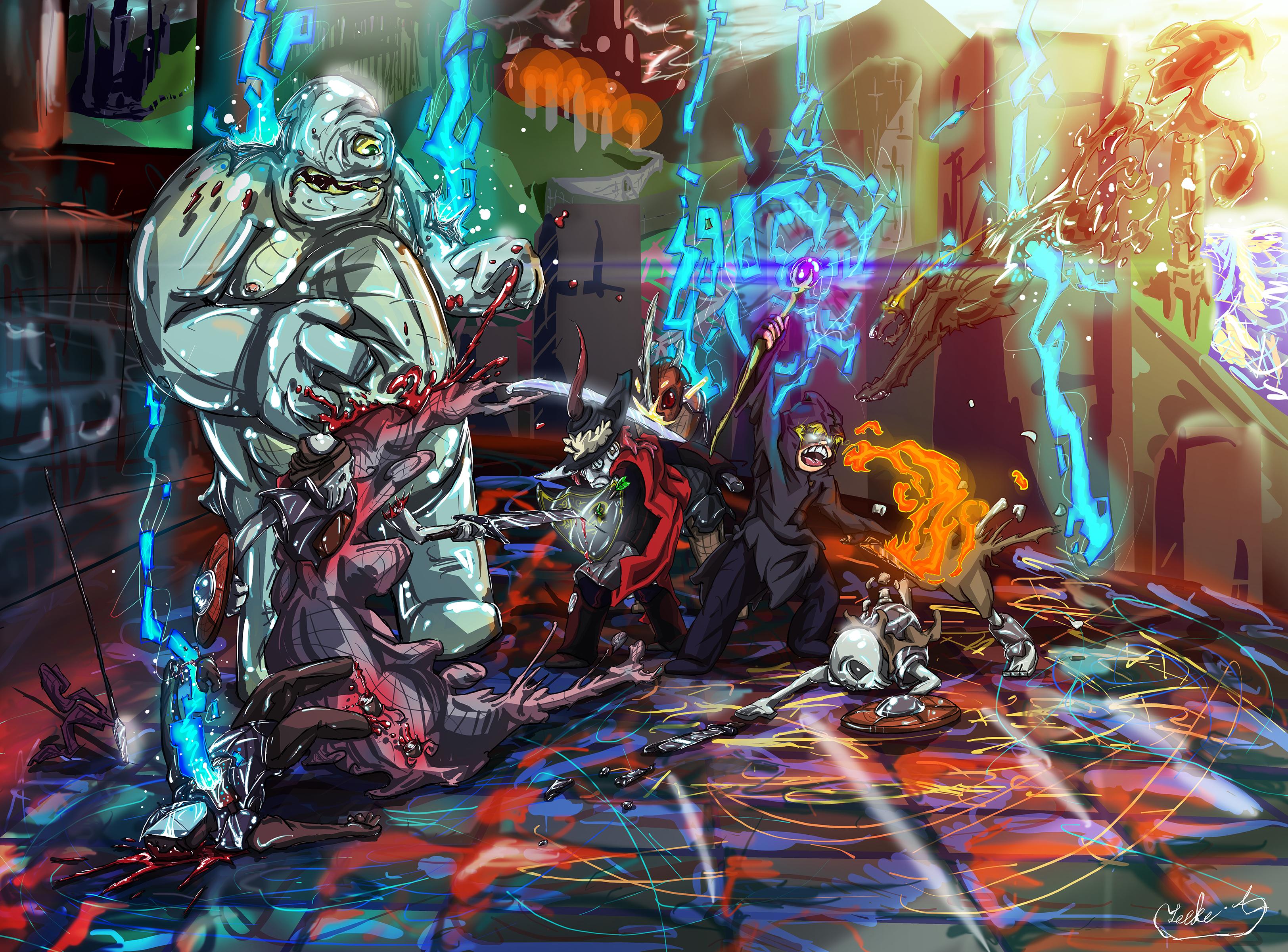 luke and scott dark souls 2 co-op fan art