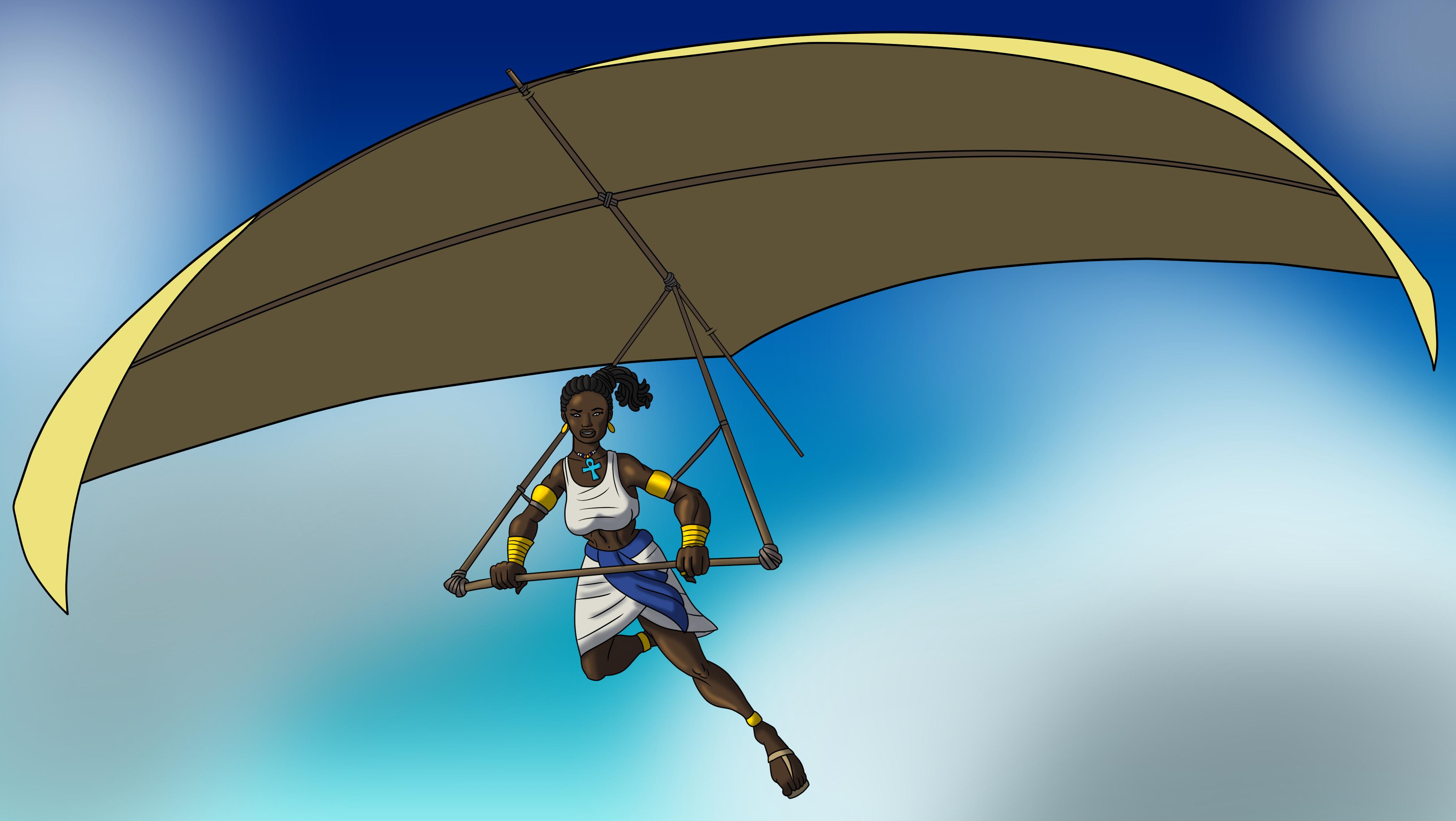 Takhaet on a Glider