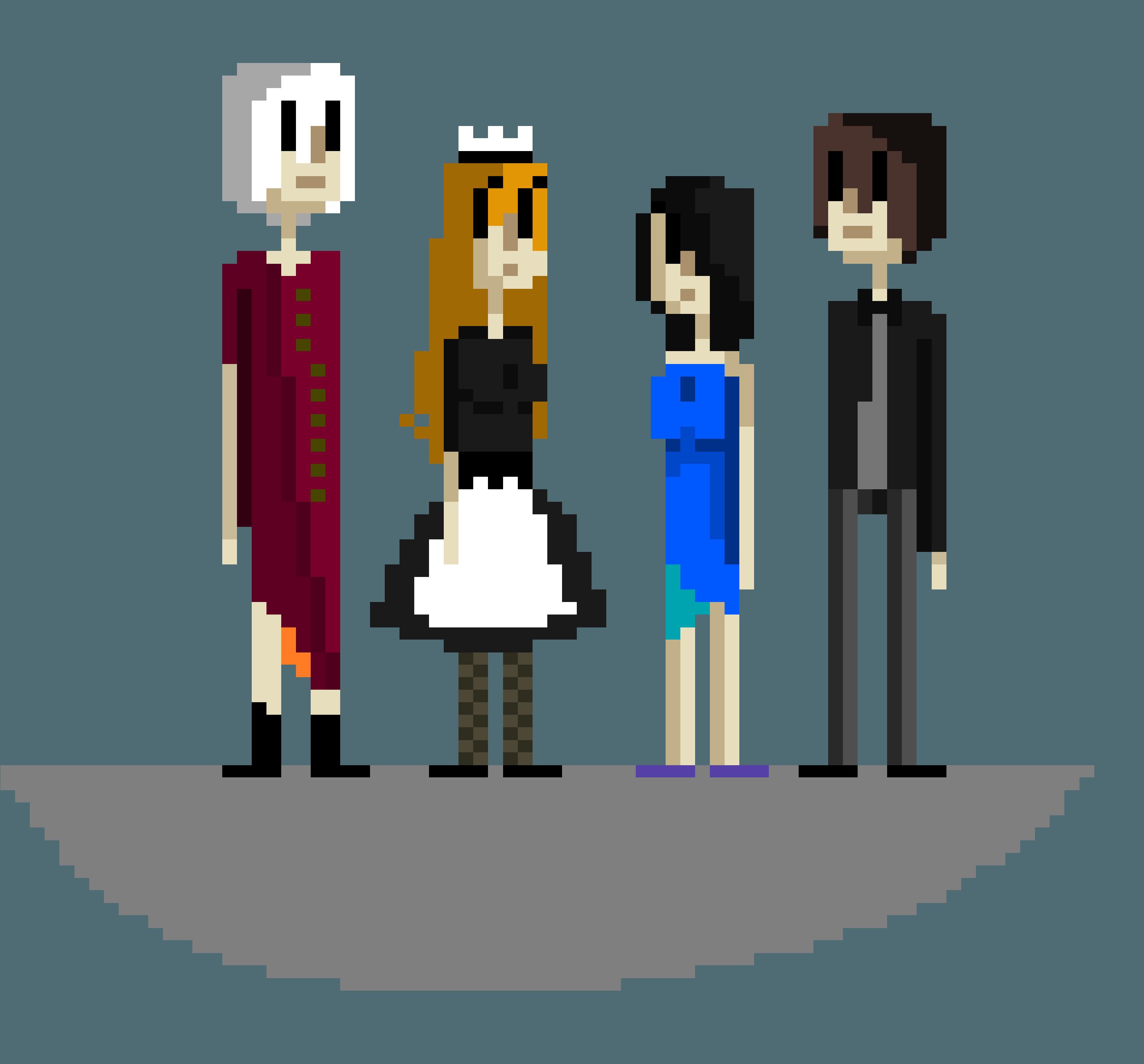 Murder Mystery: Main Characters: Elegant Clothing