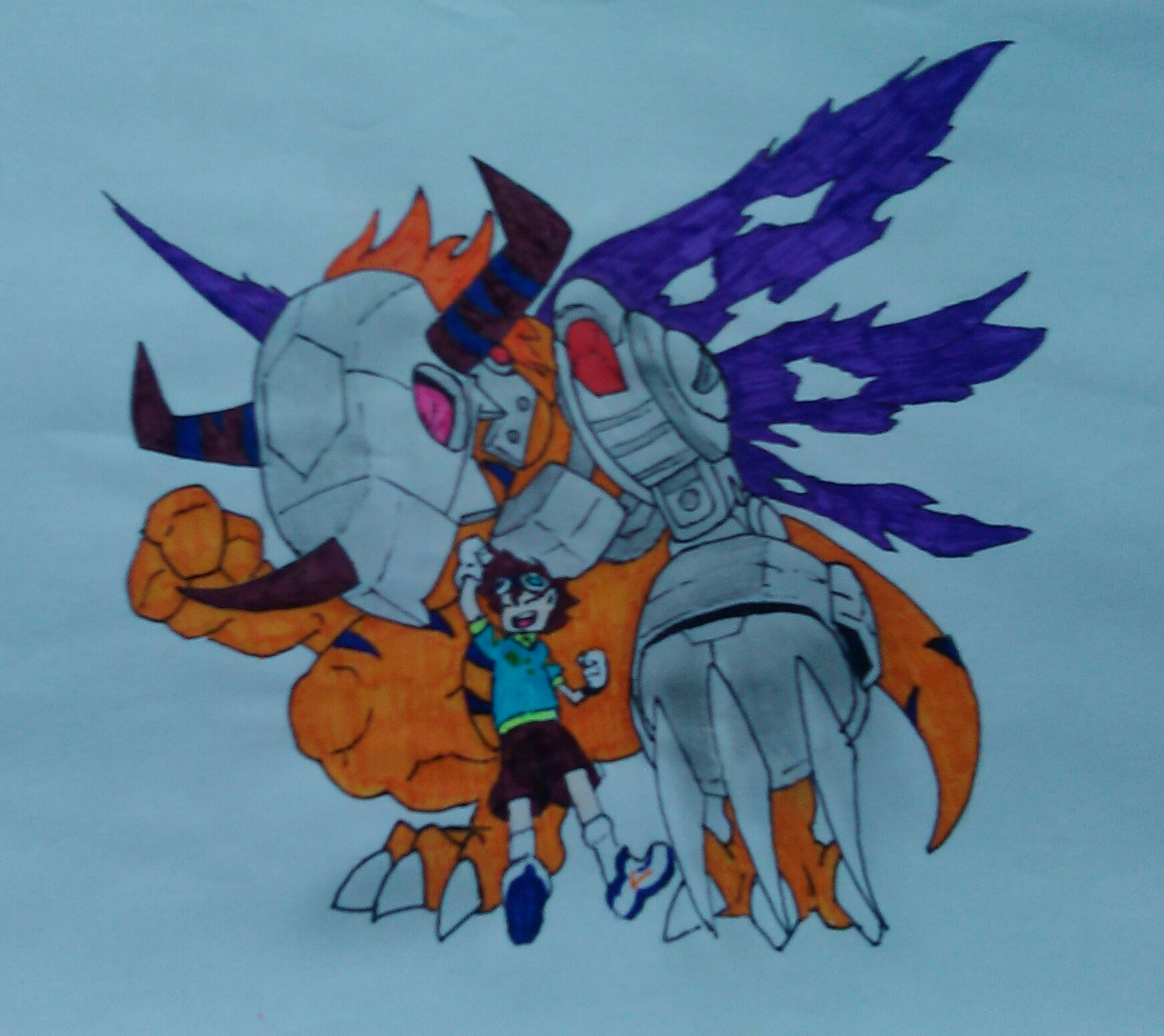 Digimon Tai and MetalGreymon