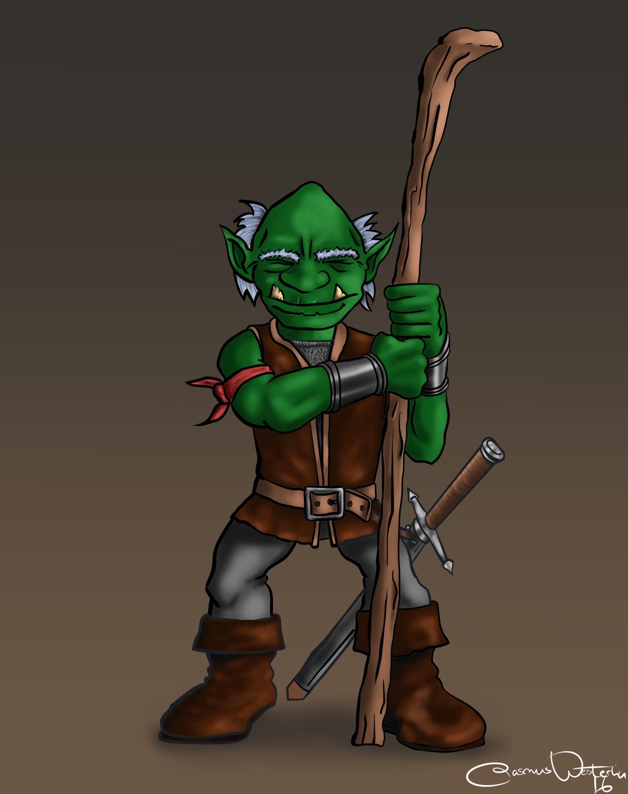 Older goblin posing