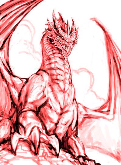 Black Dragon cover sketch