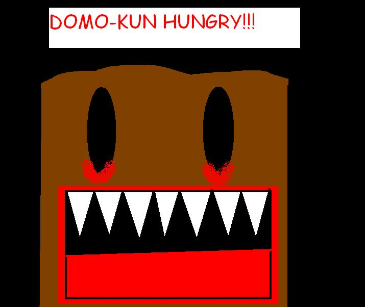 Domo-Kun is HUNGRY for HUMANS