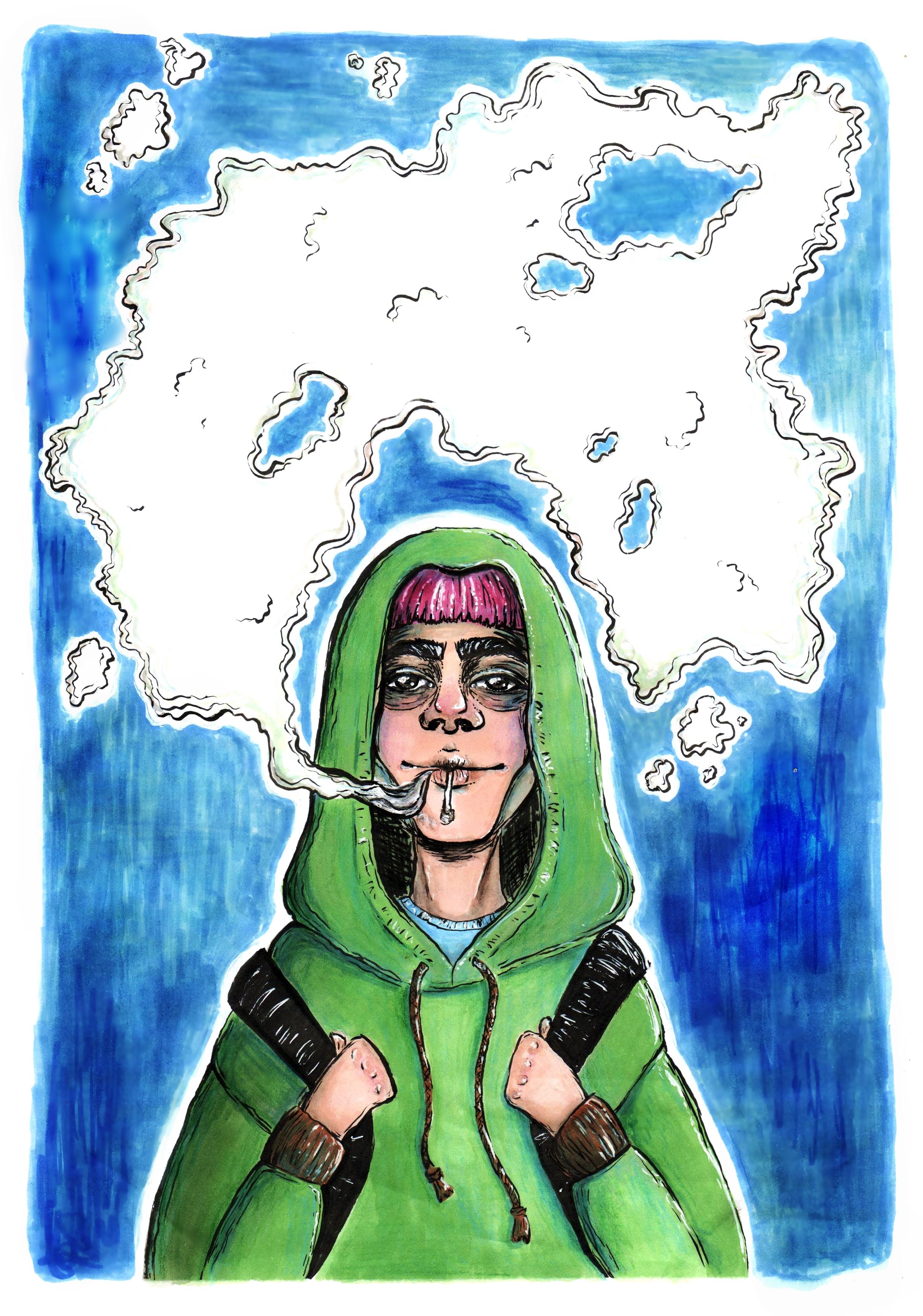 smoking dude
