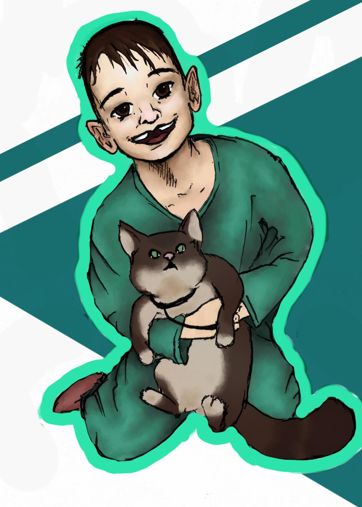 Me and cat Emi