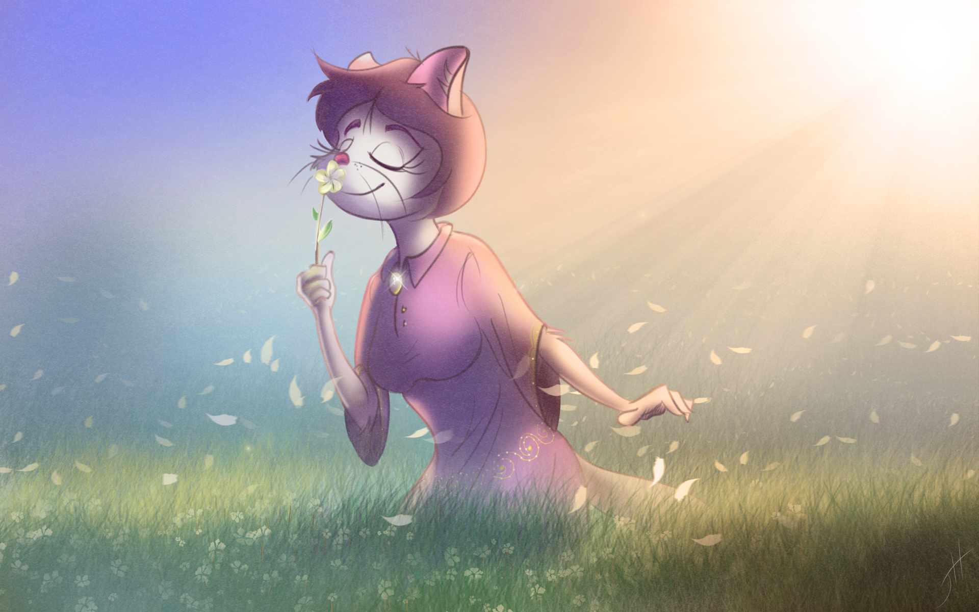 Lily in the Wind