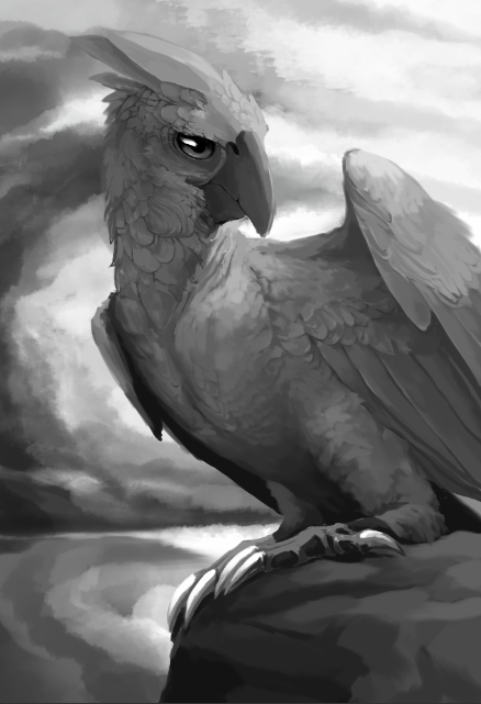 Parrot of doom without color