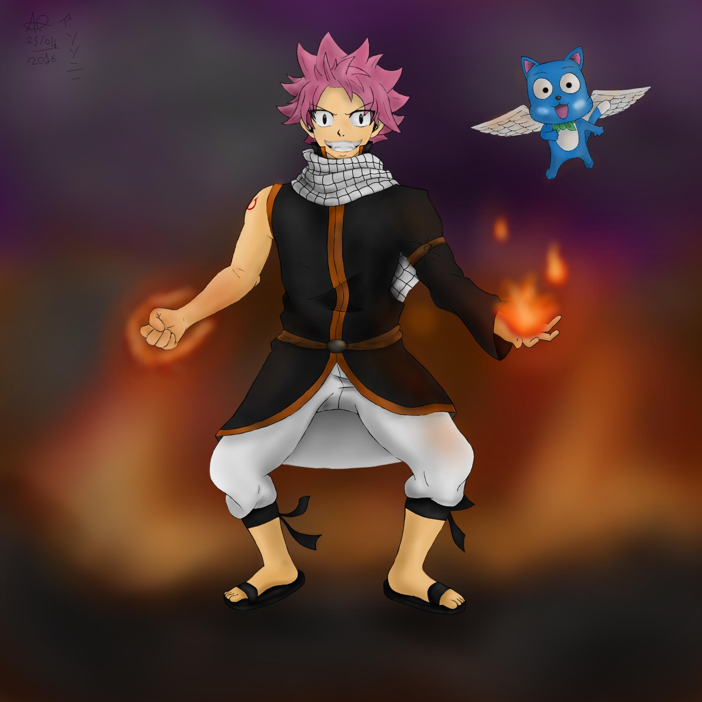 Fairy Tail Natsu Dragneel and Happy