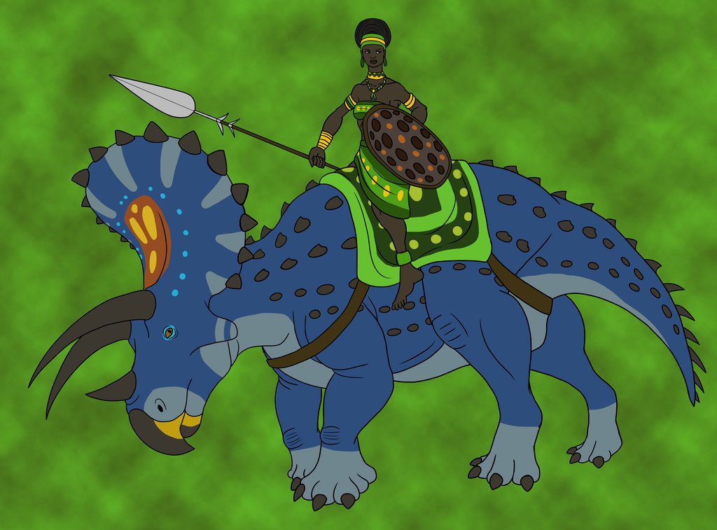 Jungle Queen on Her Steed