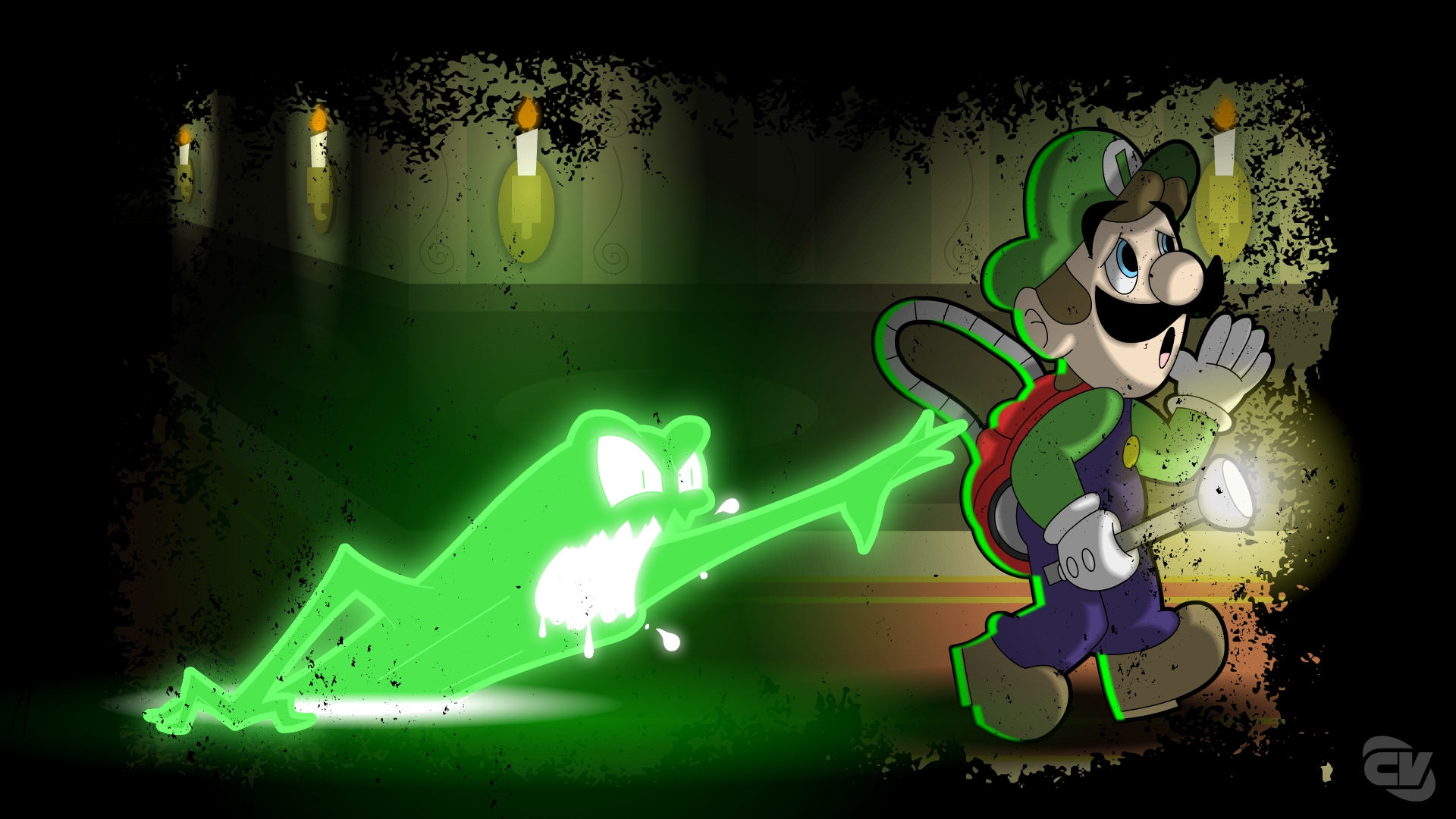 Luigis Mansion Wallpaper By Chris Vassilico On Newgrounds