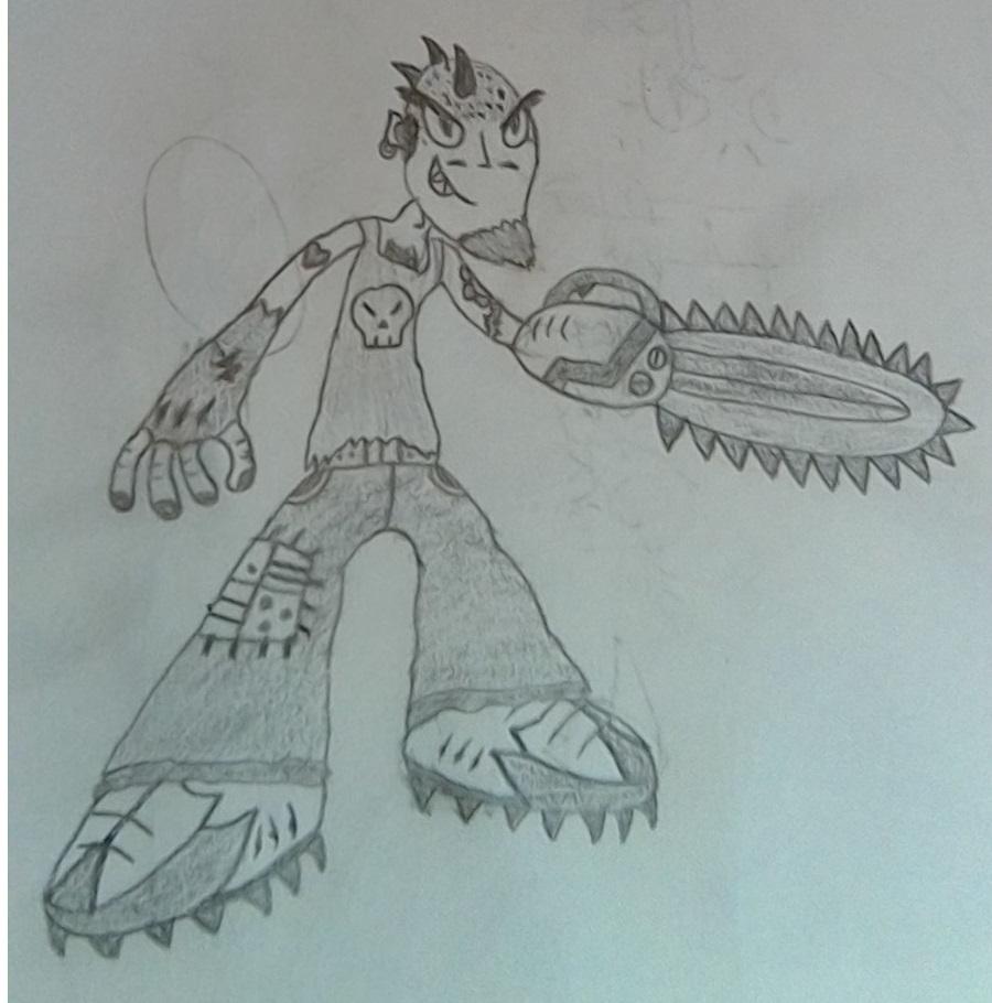 Chainsaw arm guy