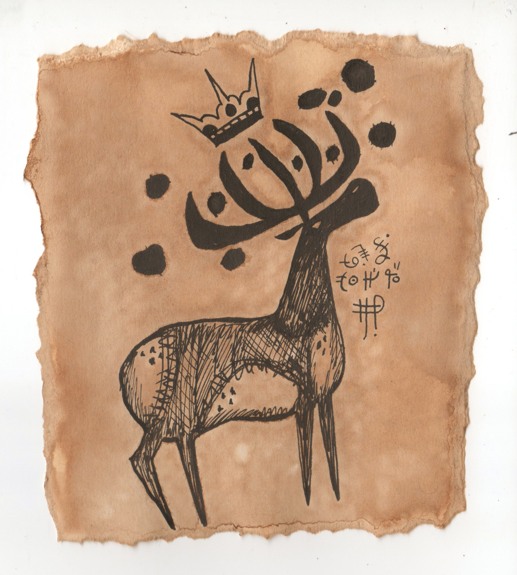 Old Moose Lord drawing