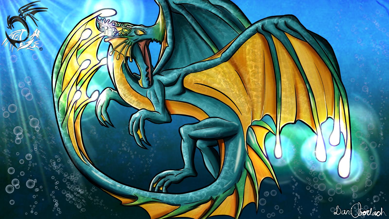 Water Dragon Concept Art Illustration