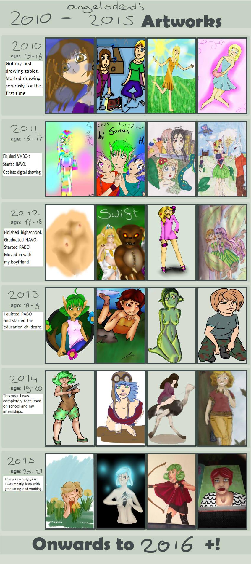2010 till 2015 artworks // progress