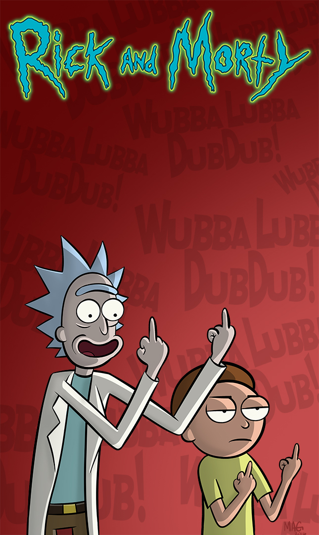 Rick And Morty Cell Phone Wallpaper By Mikeagar85 On
