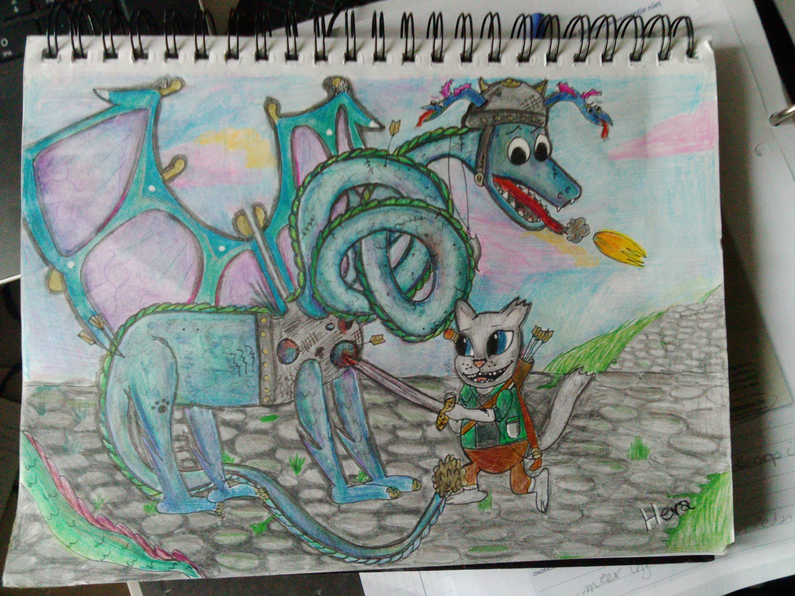 Dragonslayer kitten Vs. Dragon
