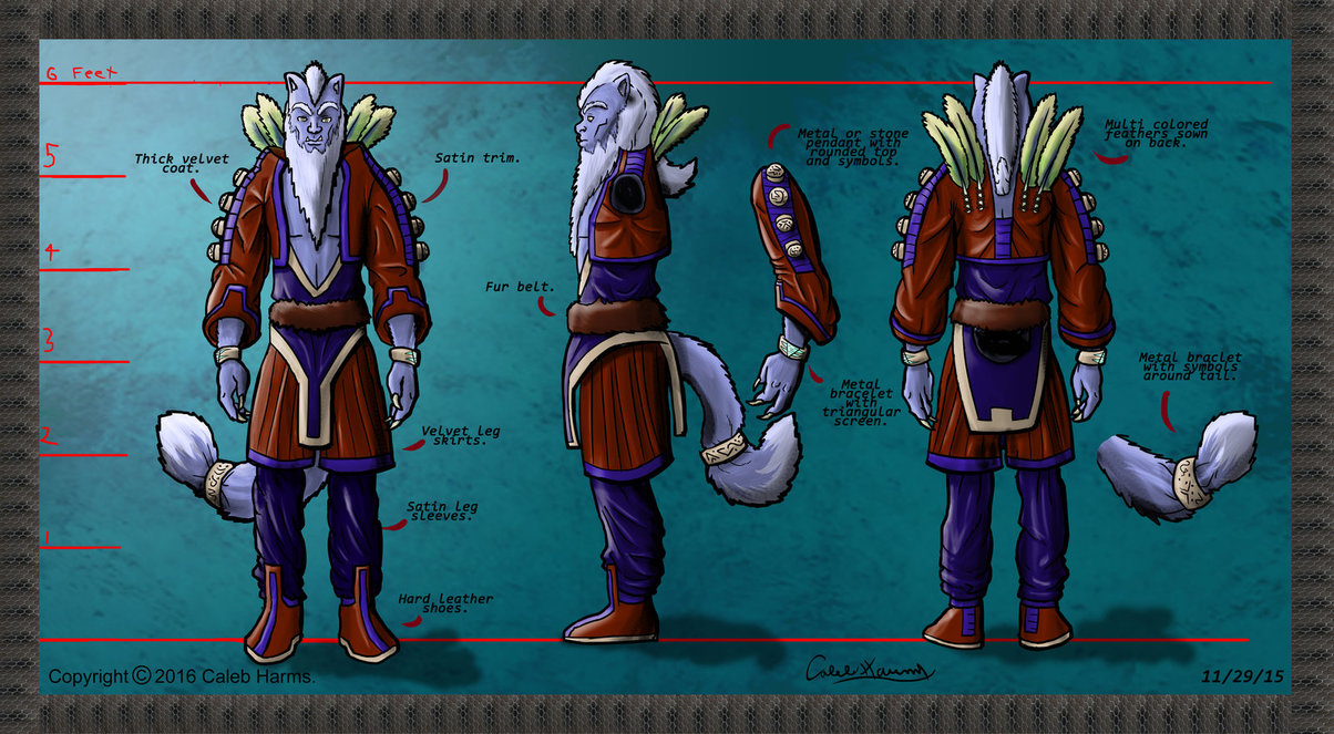 Alien dignitary character concept #2