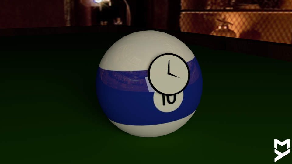 A Lone Billiard Ball