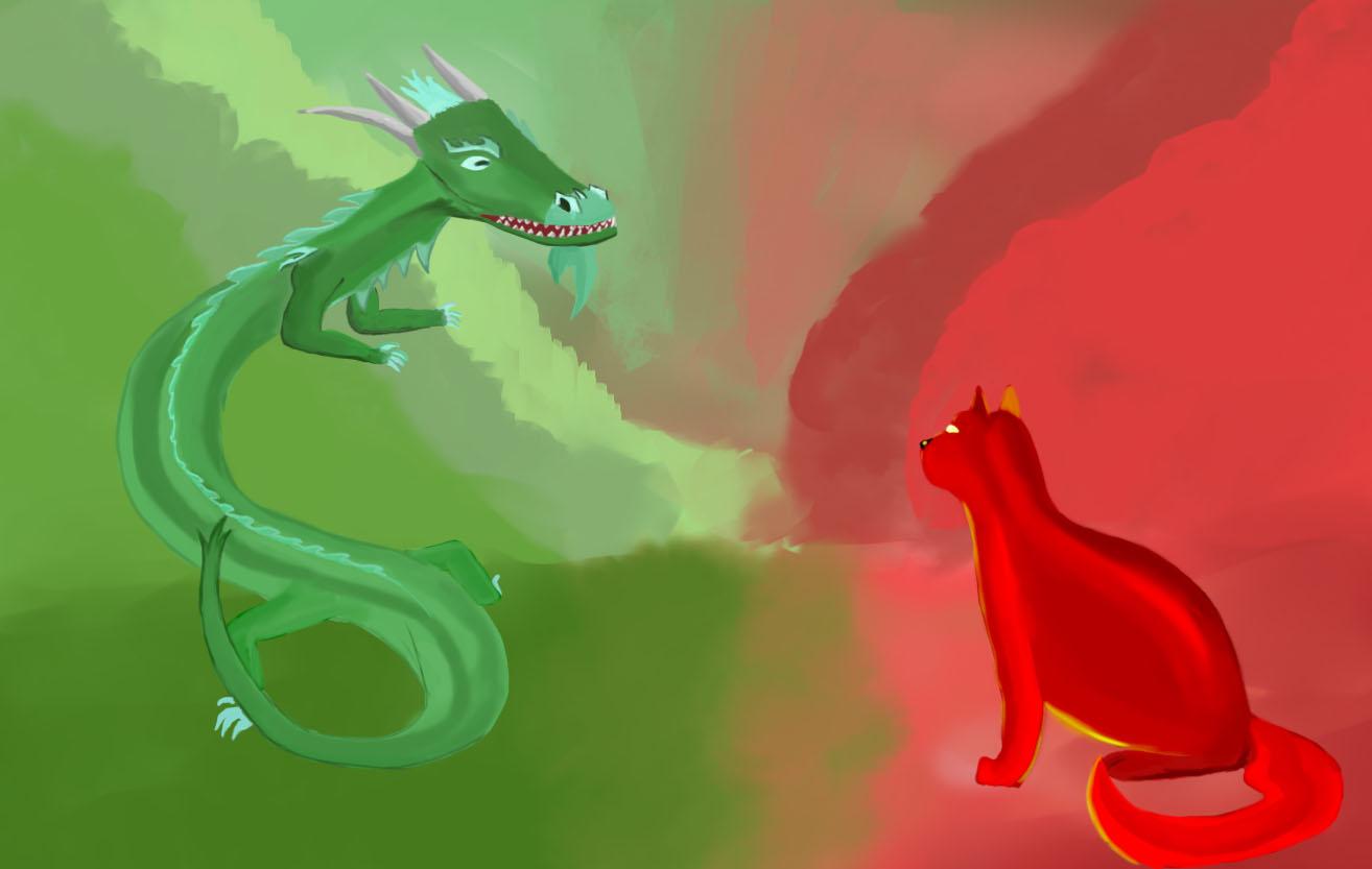 Red Cat vs Jade Dragon