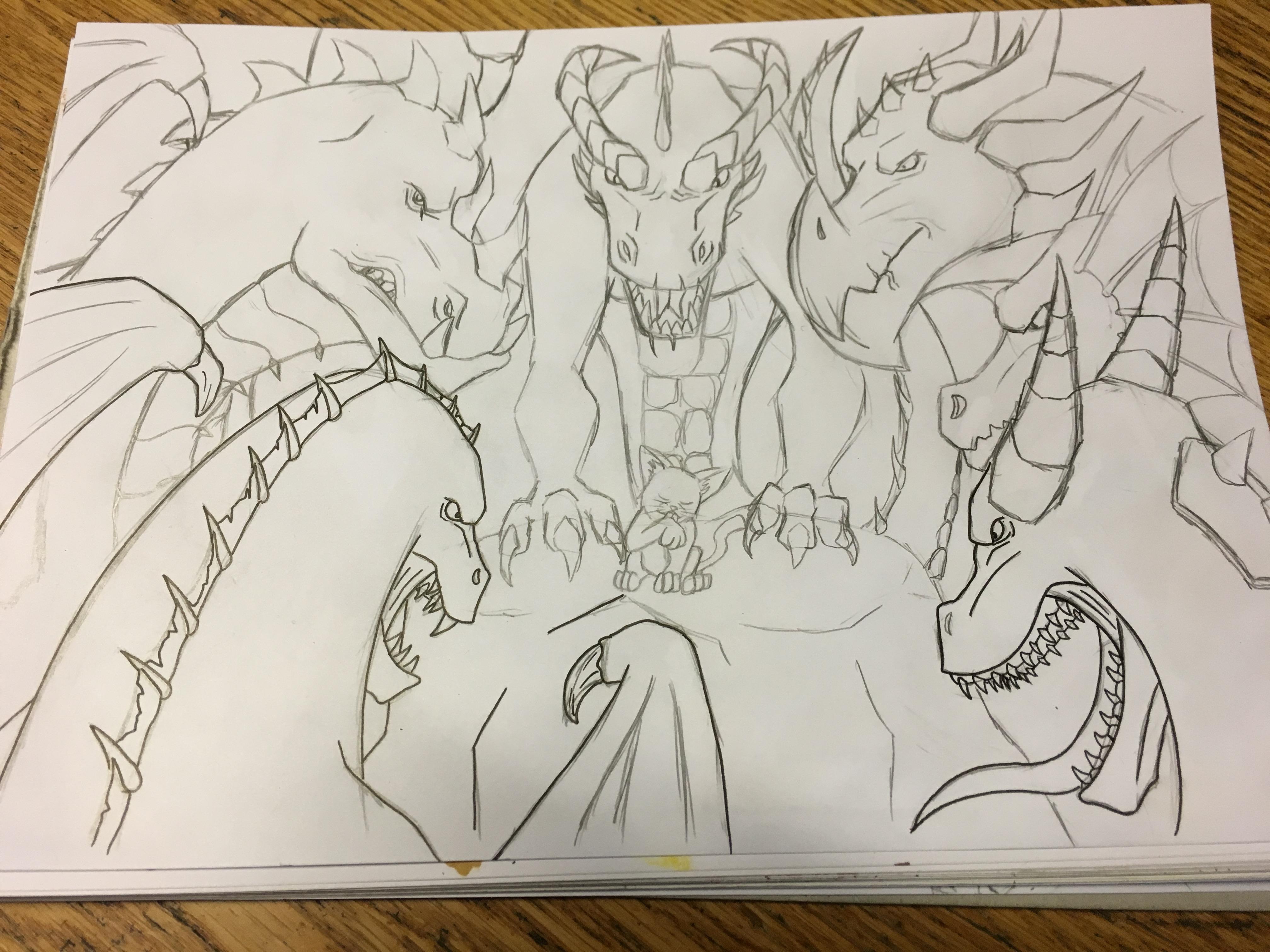Round 2, Fight - sketch