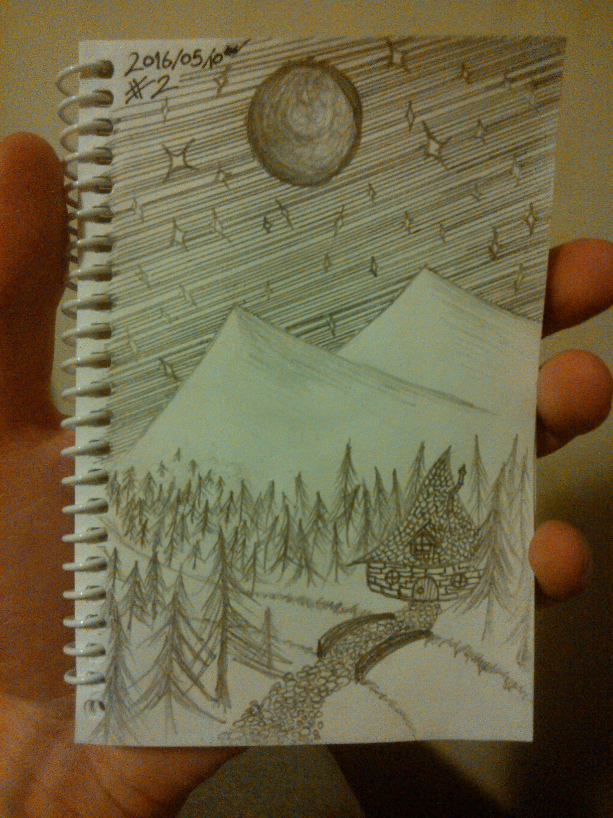 Every Day A Drawing #2: A Witches Cabin