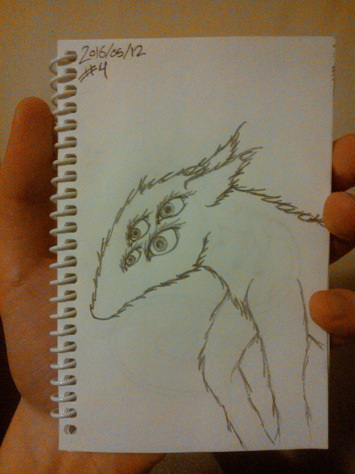 Every Day A Drawing #4: The Beast of Eyes