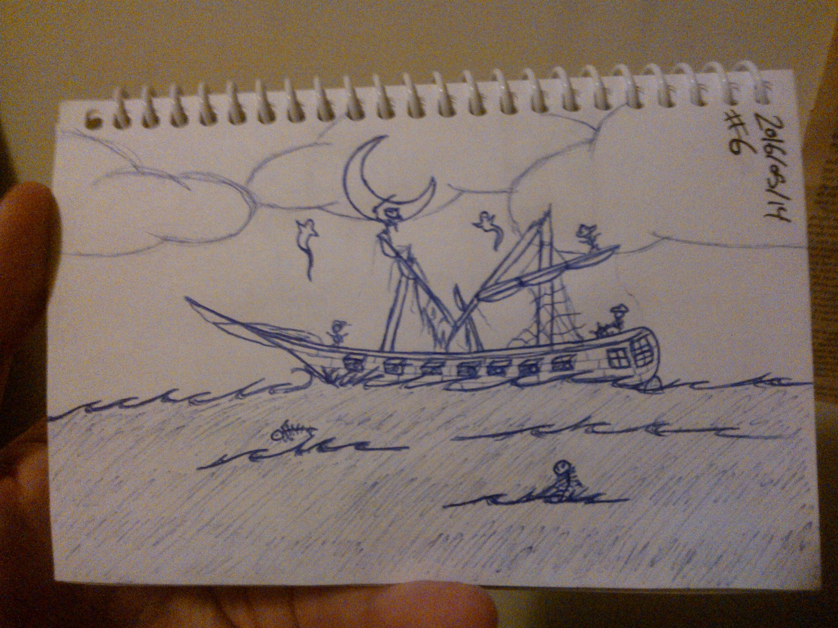 Every Day A Drawing #6: Ghost Pirate Ship