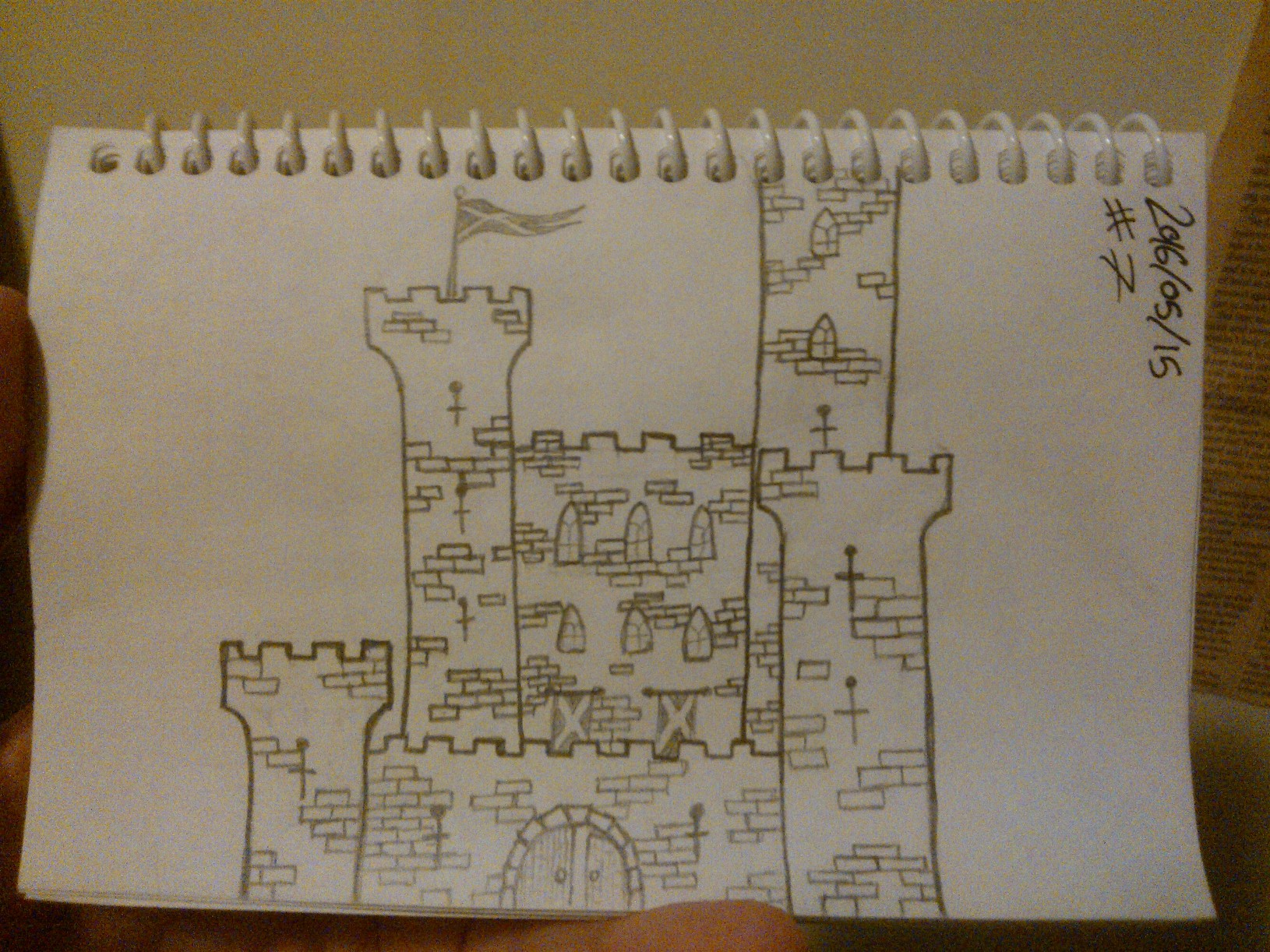 Every Day A Drawing #7: Scottish Castle