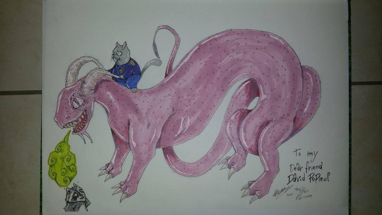 Captain Fuzzyballz and Bubblegum-dragon.