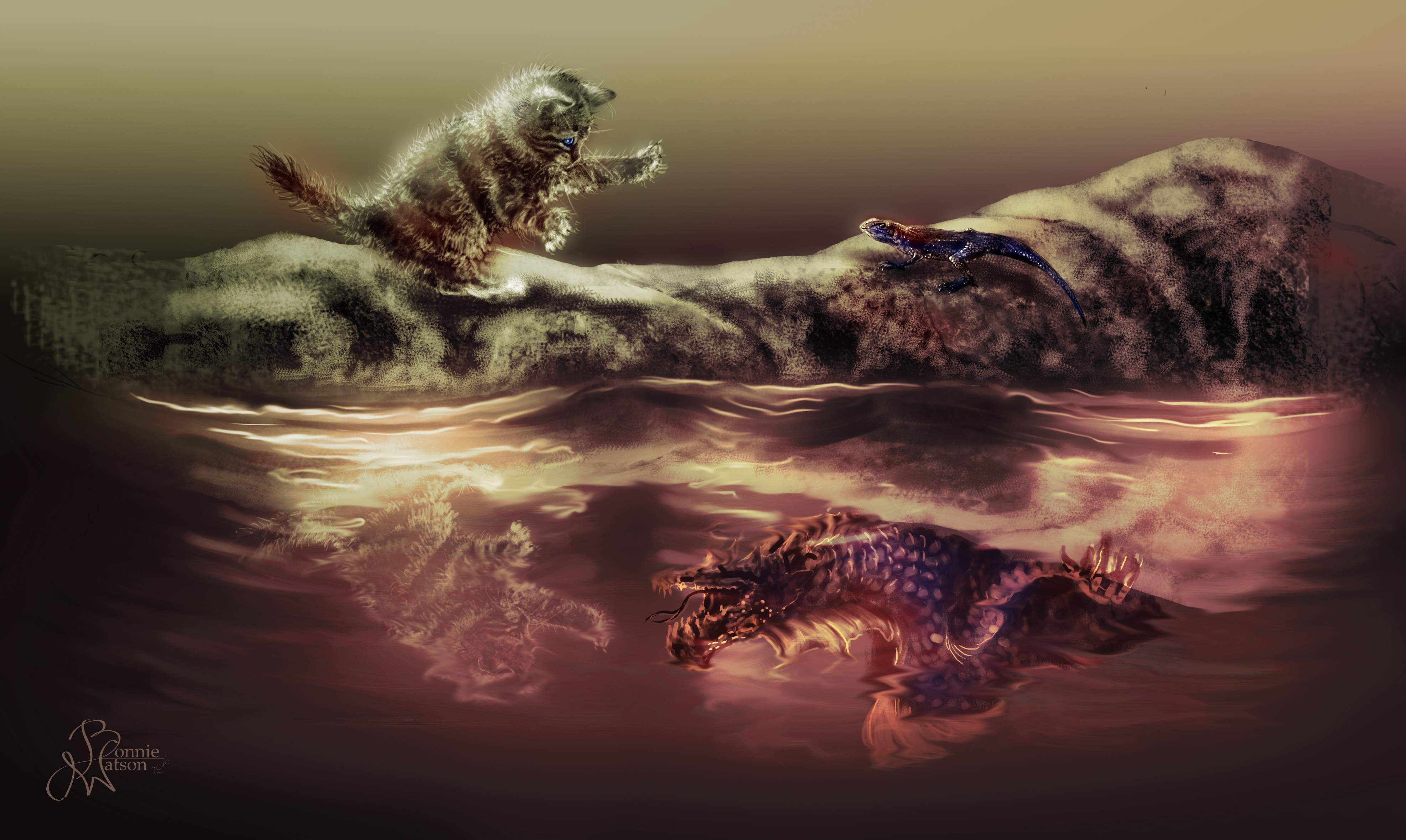 Dragon vs Kitten