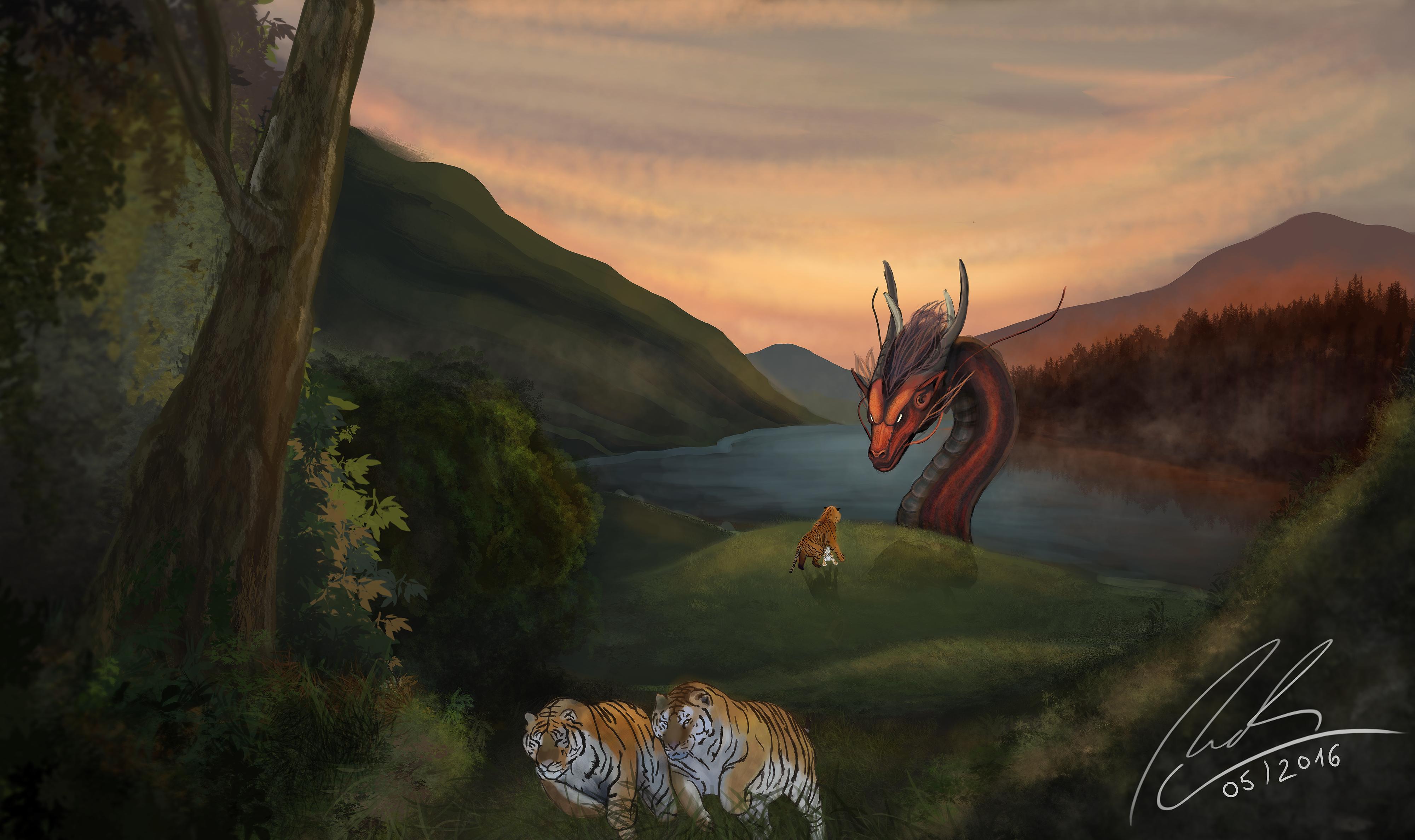 dragons vs kittens