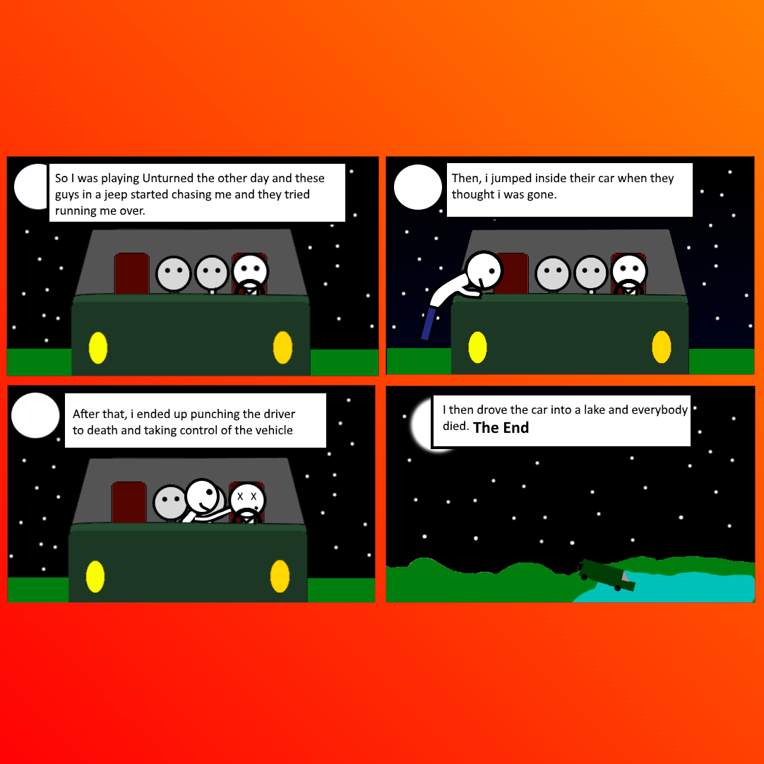 Cars!!! - Unturned Comic 1