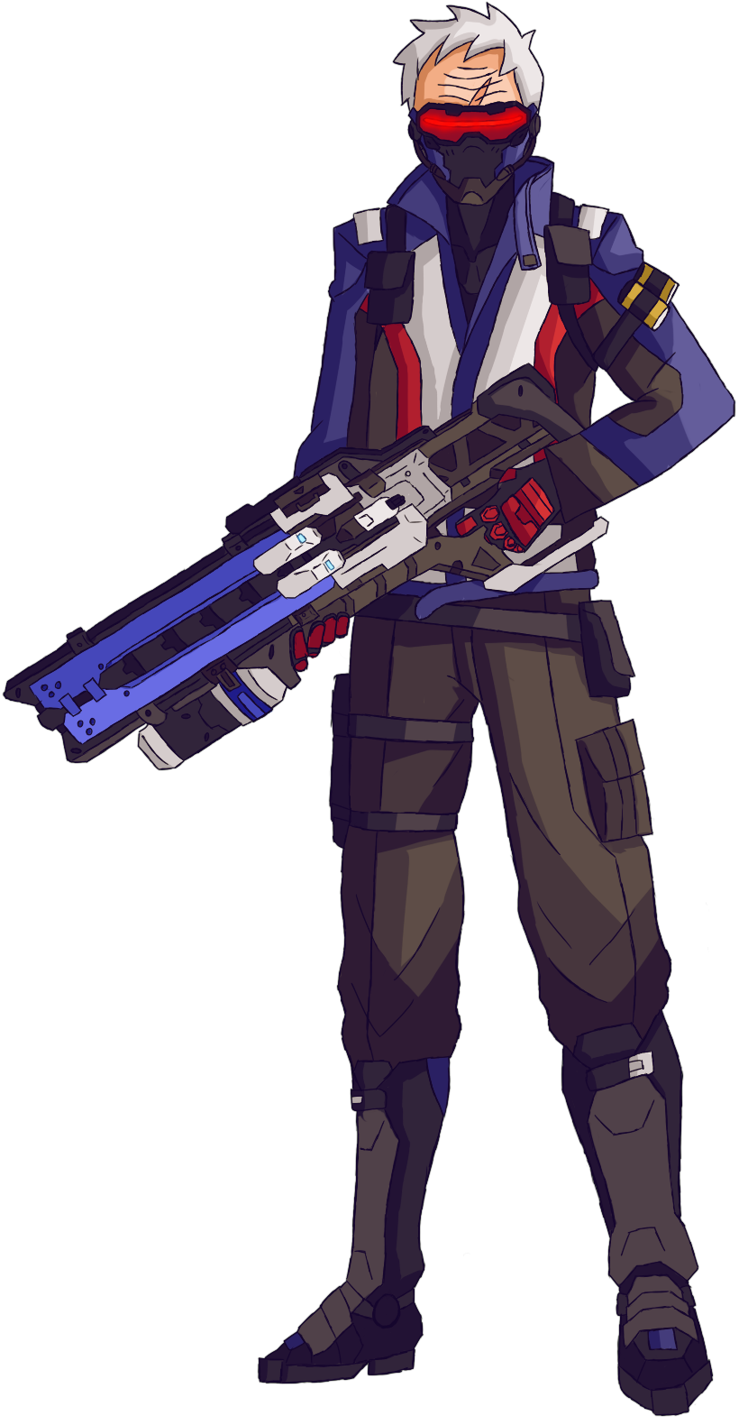 Soldier 76 Fan Art by HanterSaffron on Newgrounds