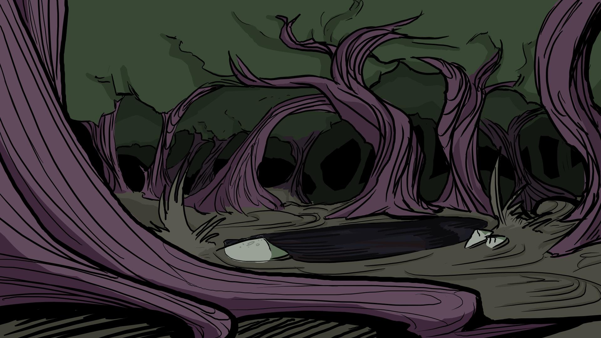 Swamp/dark forest background