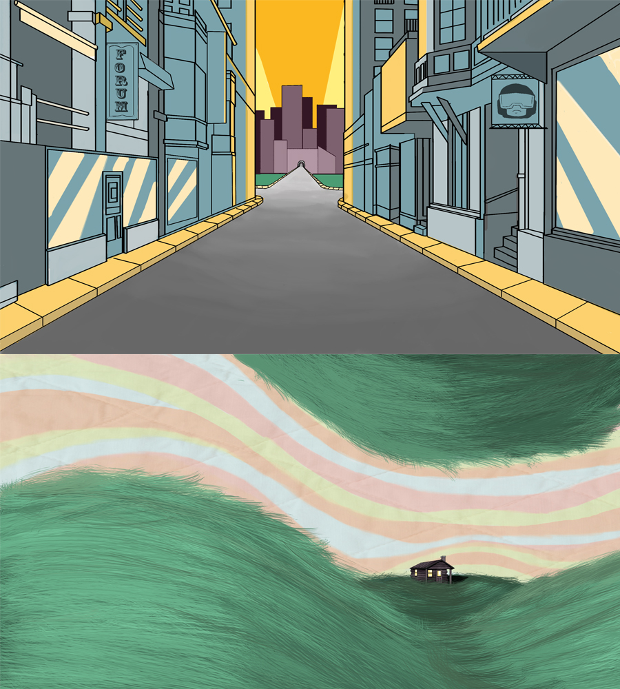 Pico's Trip Backgrounds