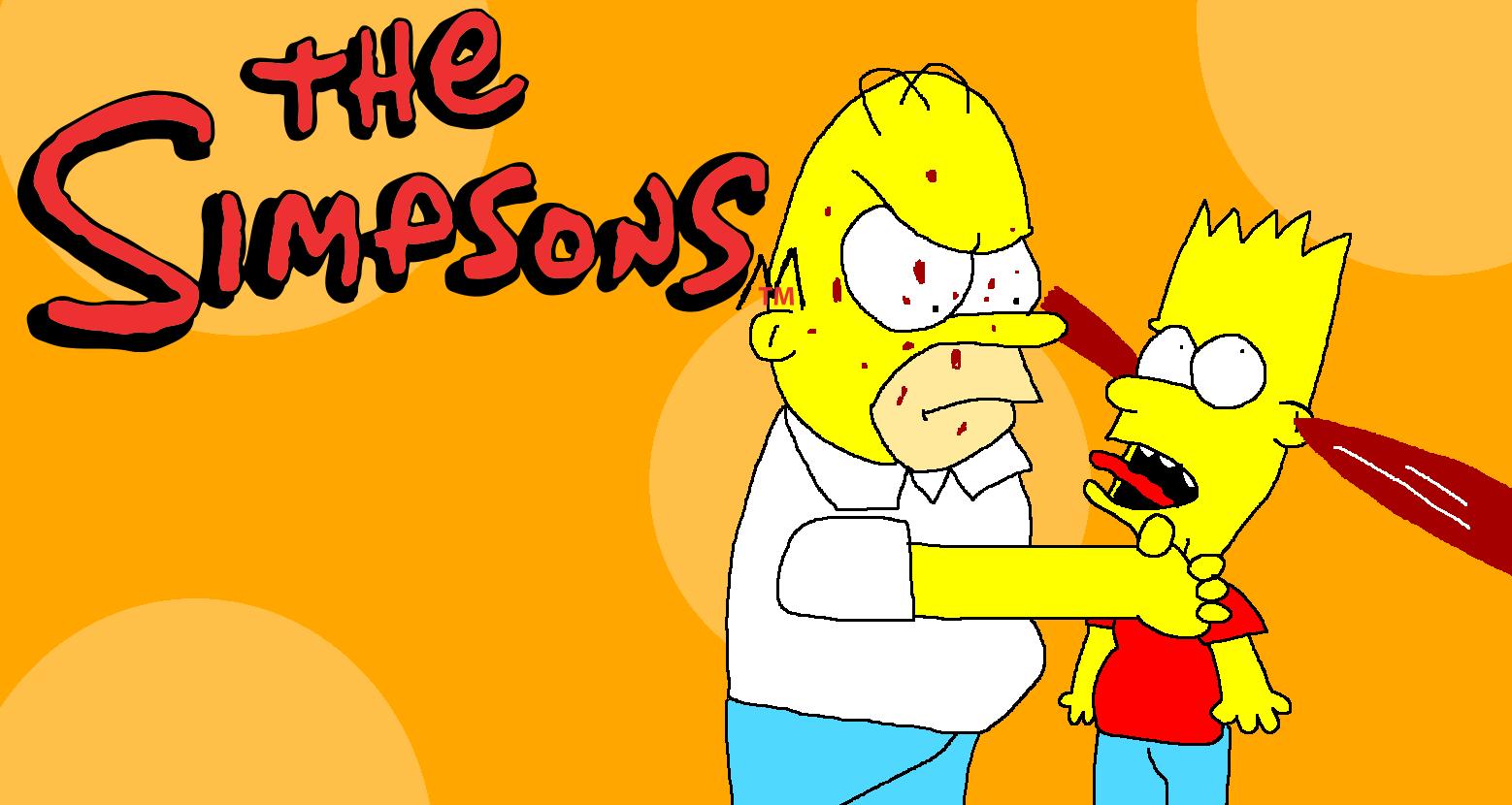 Homer strangles Bart very faster