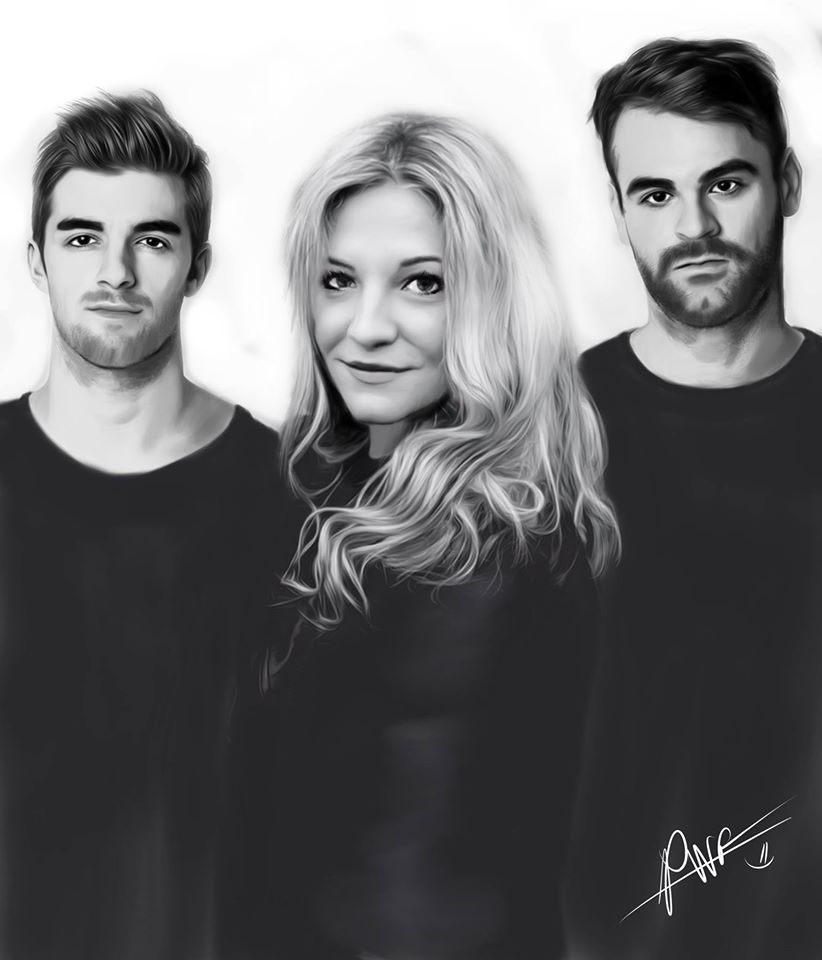 Rozes and The Chainsmokers Portrait