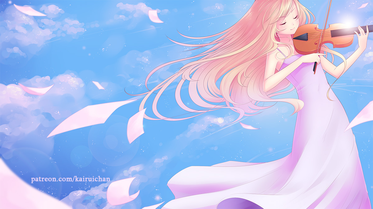 Your Lie In April Wall Teaser By Kairui Chan On Newgrounds