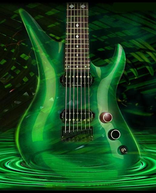 green melodic wave