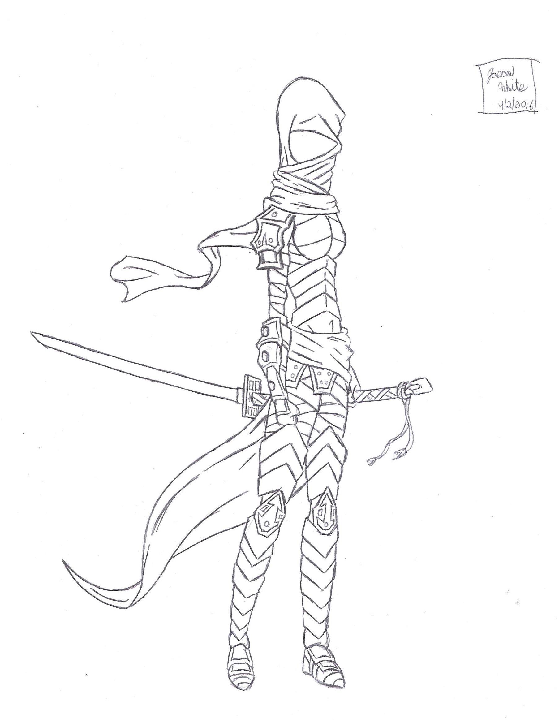 Armored Ninja Girl