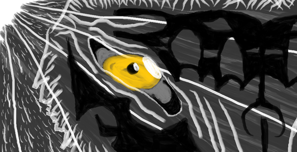 The -I tried to draw a wolf face- MSP drawing