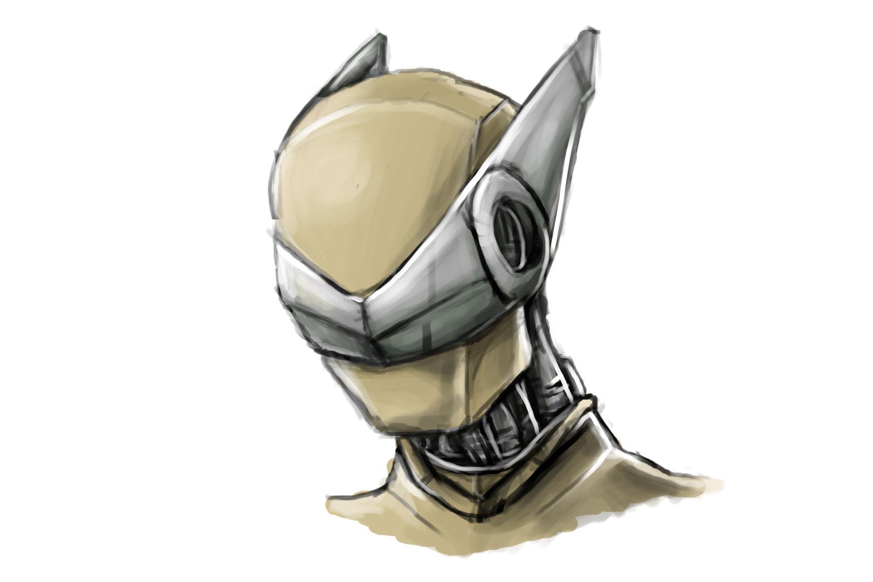 robot head sketch