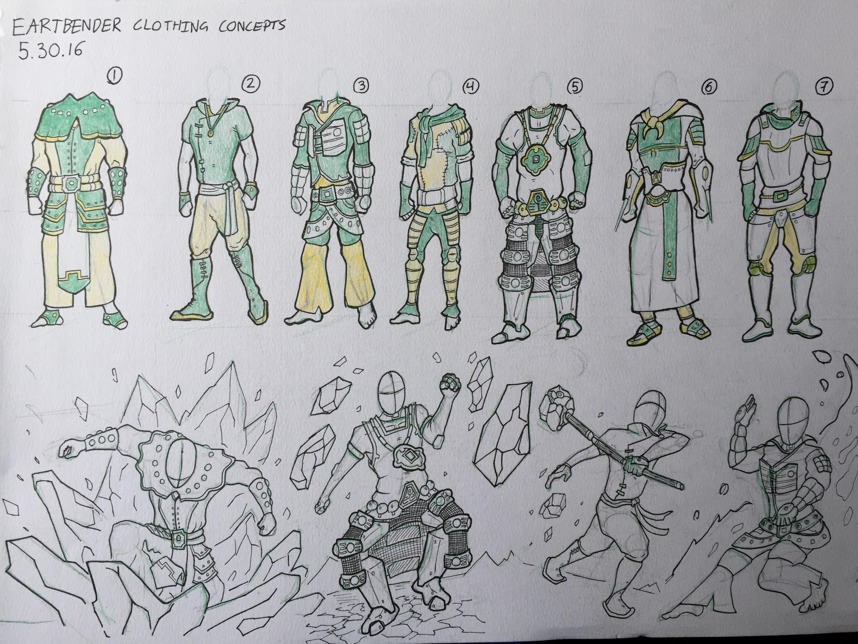 EarthBender Concept Design (Clothing)