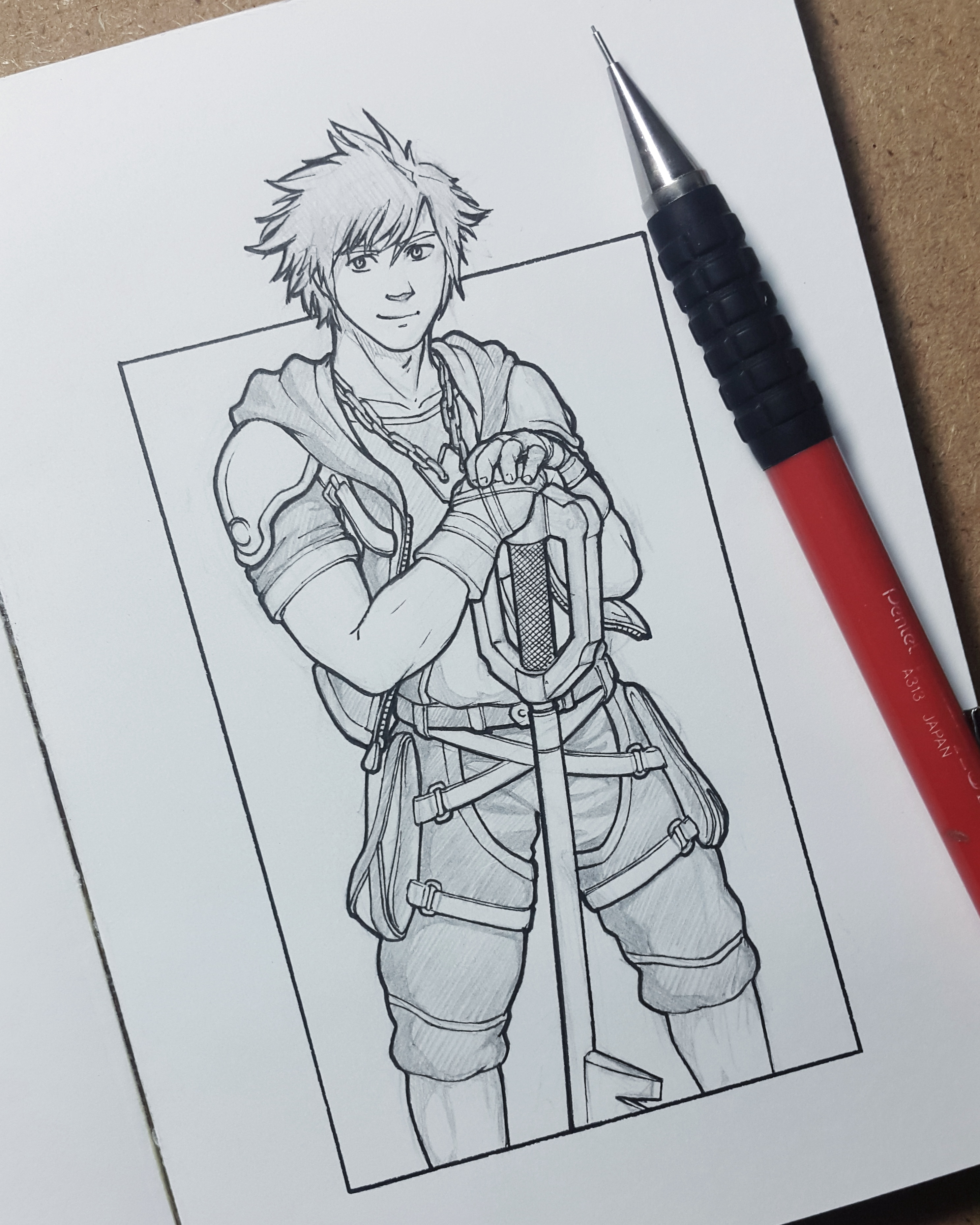 Sora from Kingdom Hearts the grow up version