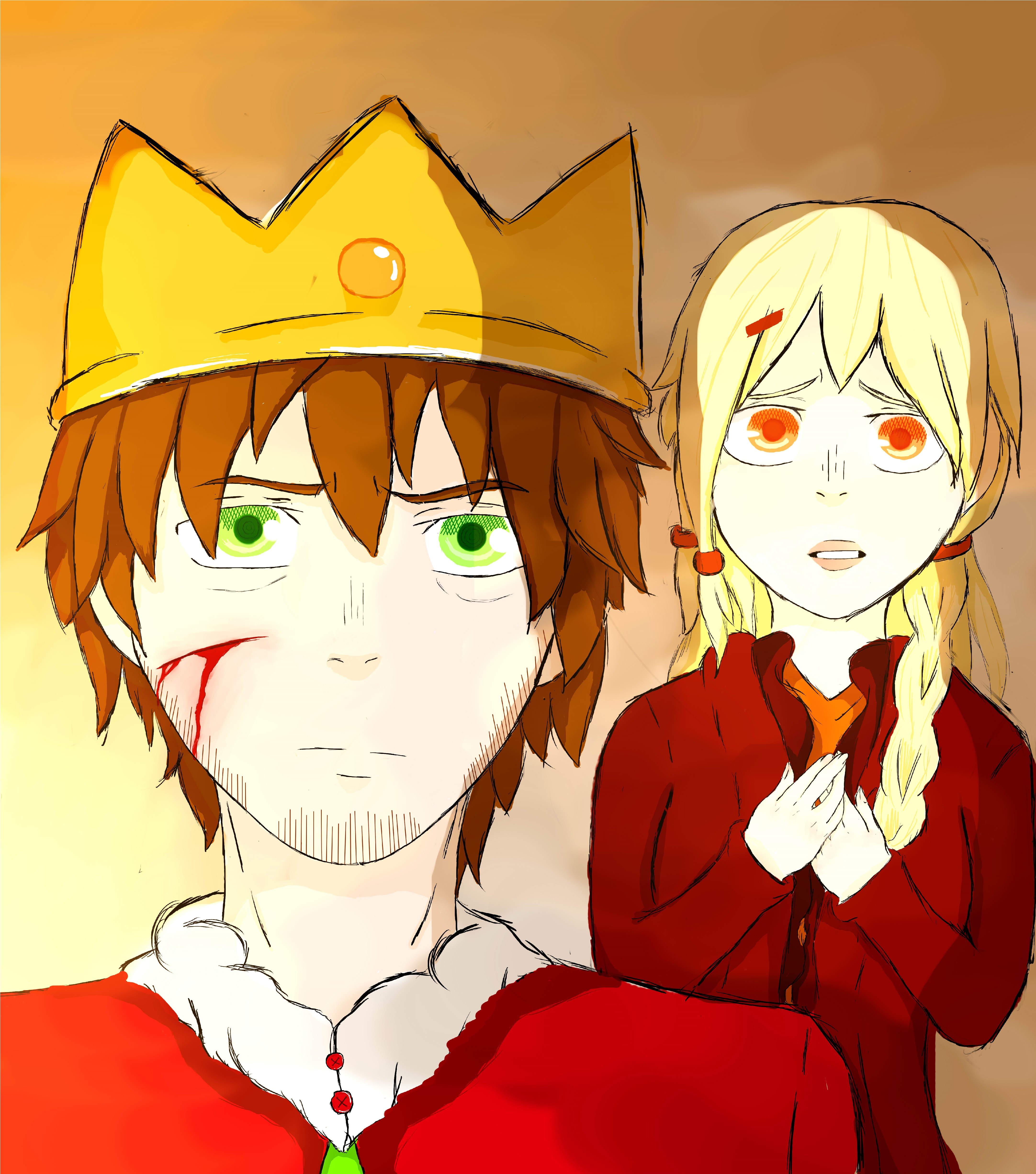 King And His Worried Queen