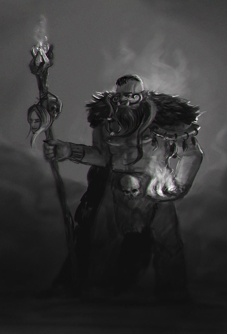 orc wizard concept