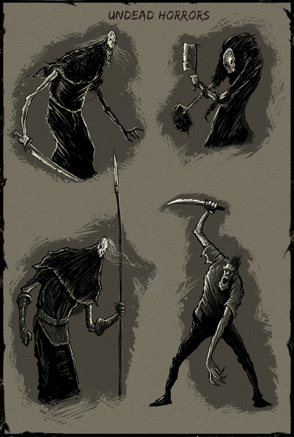 Concept sketches Undead